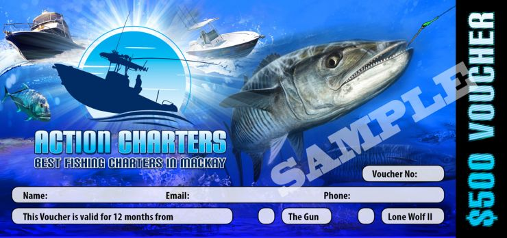 Best Fishing Charters in Mackay Voucher