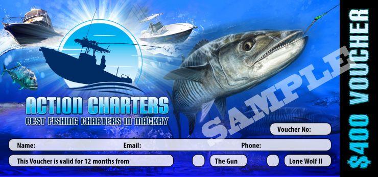 Best Fishing Charters in Mackay Voucher